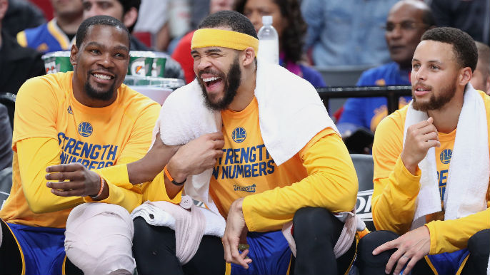 682cbfa4b8b6d JaVale McGee wears Shaq hat to Game 1 of NBA Finals