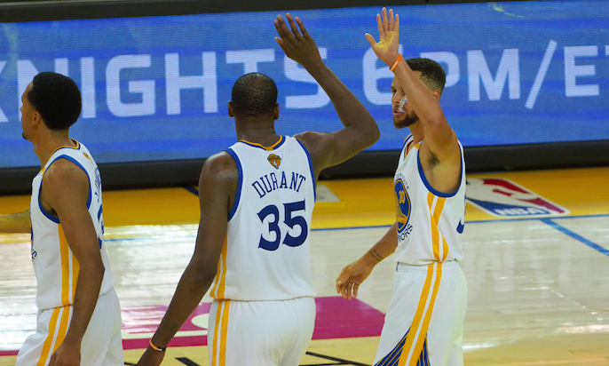 The Road to Larry O Episode 7: Durant's offense carries Warriors in Game 1