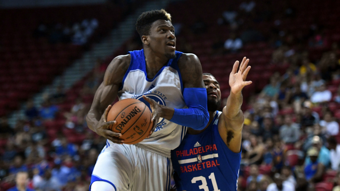 c53533a06703a5 Dylan Ennis buries eight 3-pointers in Warriors Summer League win