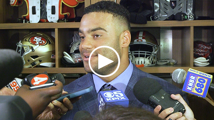 Solomon Thomas describes sharing NFL debut with old roommate Christian McCaffrey