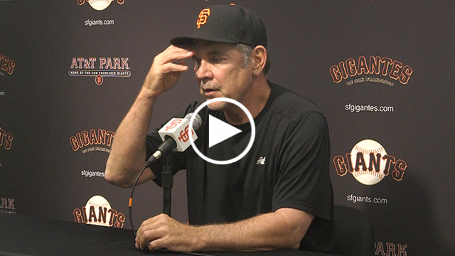Bochy on Giants' abundance of mistakes: 'It shouldn't be happening on a major league level'