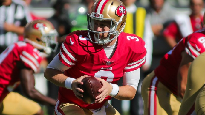 Santa Clara -Jimmy Garoppolo on the sidelines didn t change the 49ers   fortunes. Garoppolo couldn t stop the 49ers  three step – one step forward cb76f332a