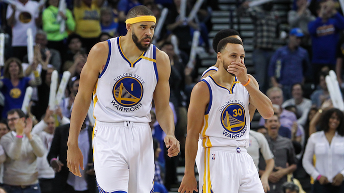 Steph Curry loses bet to JaVale McGee after their college teams face off