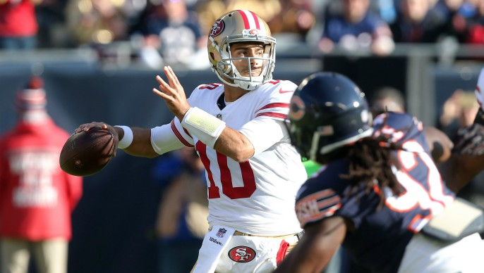 ede38c23d7e Trust from all corners fueled Jimmy Garoppolo s big day in Chicago