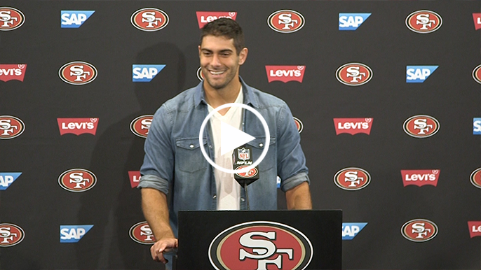 Jimmy Garoppolo talks about game-winning drive vs. Titans