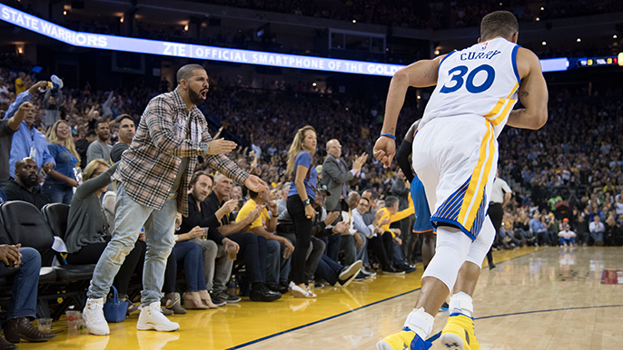 5712dfcf201 Aubrey  Drake  Graham is one of the NBA s most famous fans. Born in  Toronto