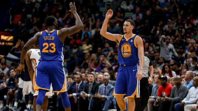 hot sale online 02a21 61d5d Draymond Green, Klay Thompson voted into All-Star Game ...
