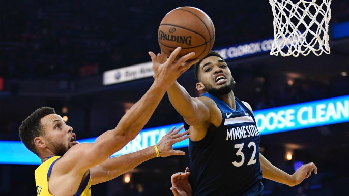 Warriors set season-high with 21 three-pointers, take down Timberwolves