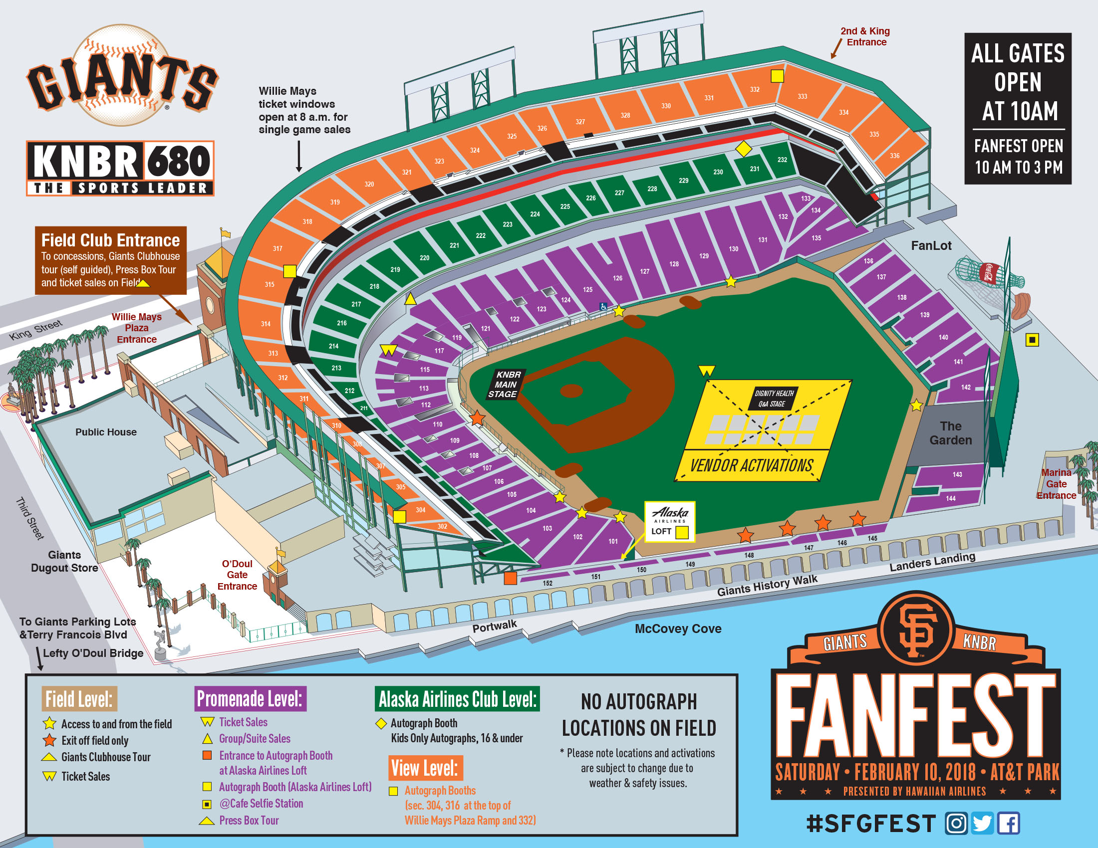 2018 San Francisco Giants FanFest stadium map released | KNBR AM