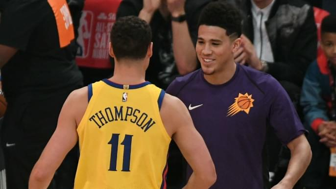 new concept 74015 08588 Klay Thompson finishes second in Three-Point Contest | KNBR-AF