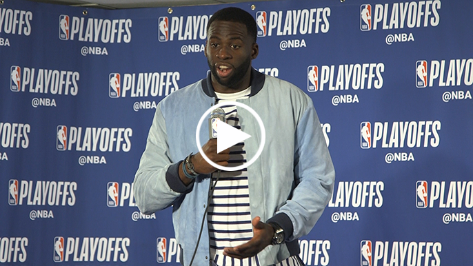 Draymond comments on reporter allegedly stealing jacket from Warriors security
