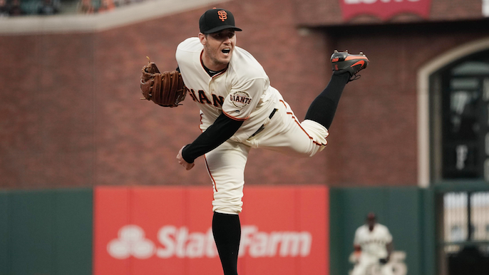 Bochy on Blach: Facing Dodgers 'helps him focus every pitch'