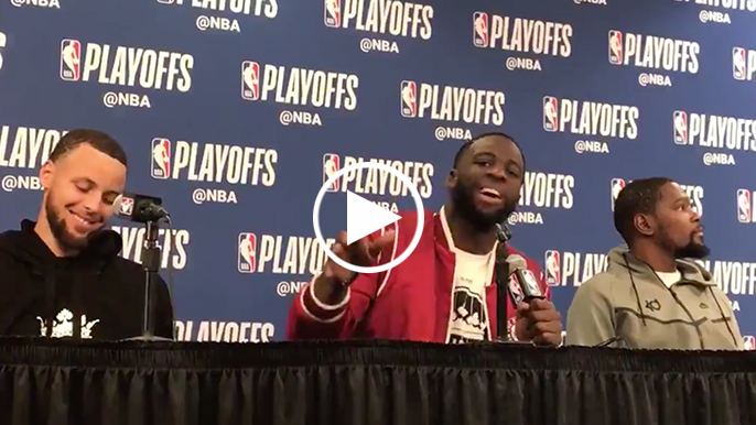 Draymond fires back at reporter who says he's trying to bait Rondo