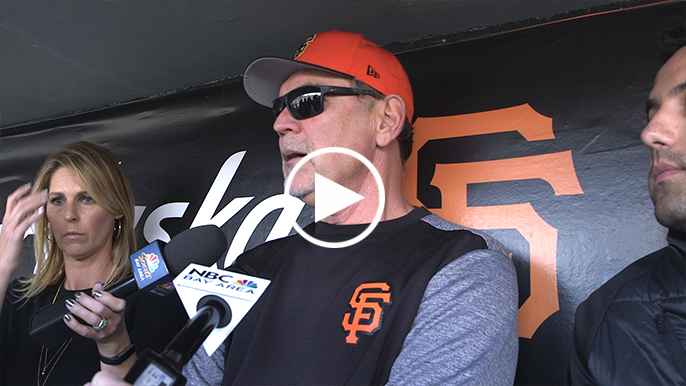 Bruce Bochy says Joe Torre called Brandon Belt following his comments on Wednesday's umpire