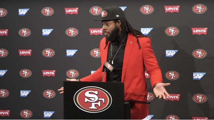 Richard Sherman defends Jed York's decision to not vote on new anthem policy [report]