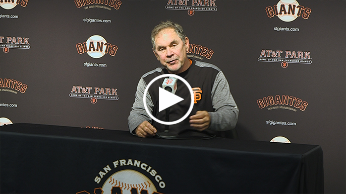 Bochy saw Belt's improvement in Spring Training: 'He's so much more consistent now'