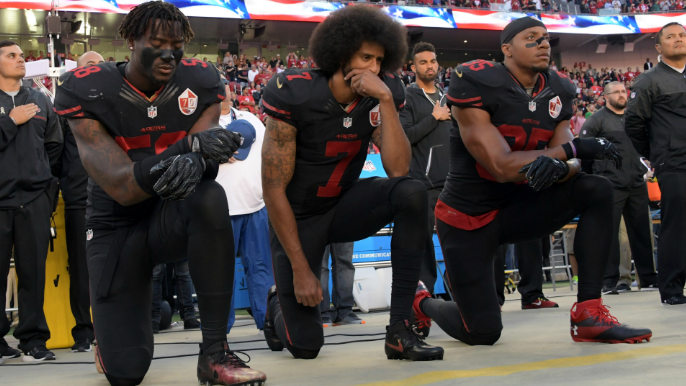 NFL considers 15-yard penalty for anthem kneeling [report]
