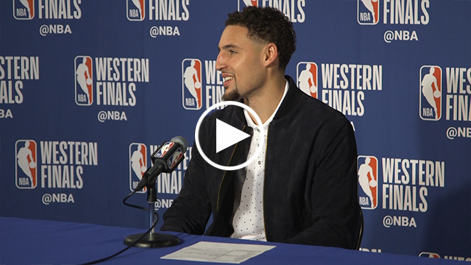 Klay Thompson can't decide if he was born with the clutch gene
