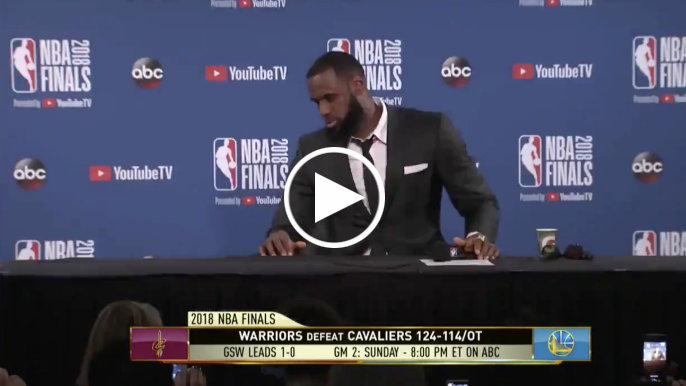 LeBron James abruptly leaves press conference after being questioned about J.R. Smith
