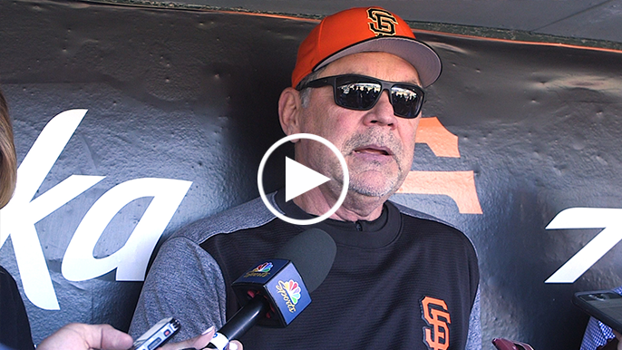 Bochy names Mac Williamson everyday left-fielder over Hunter Pence