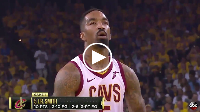 Oracle chants 'MVP' while J.R. Smith shoots free throws