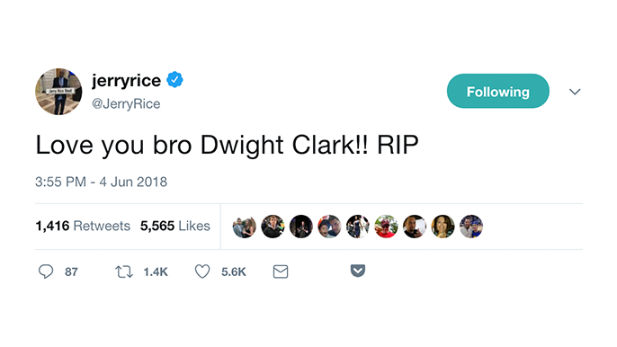 NFL family sends outpouring of support for Dwight Clark and his family