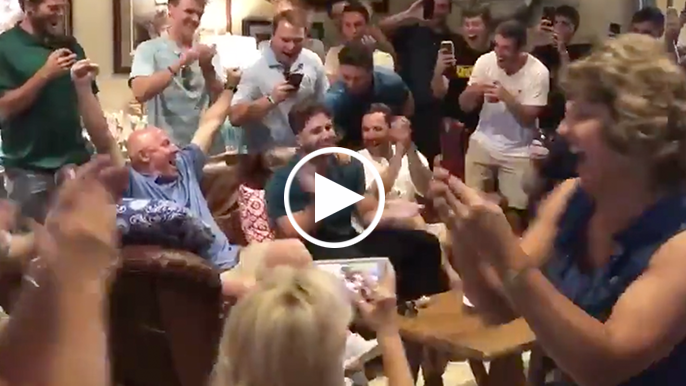 Watch the moment Joey Bart and his family find out he's been selected by Giants