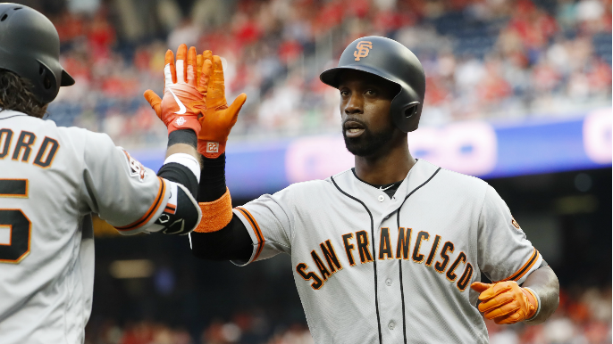 Giants knock eight extra-base hits in win over Nationals