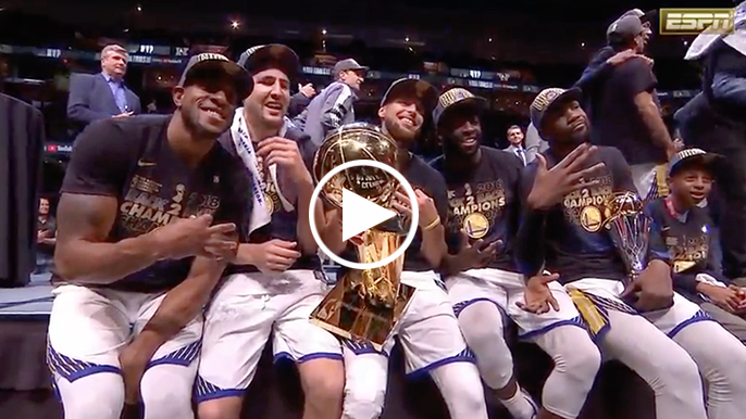 Full 2018 NBA Championship trophy presentation