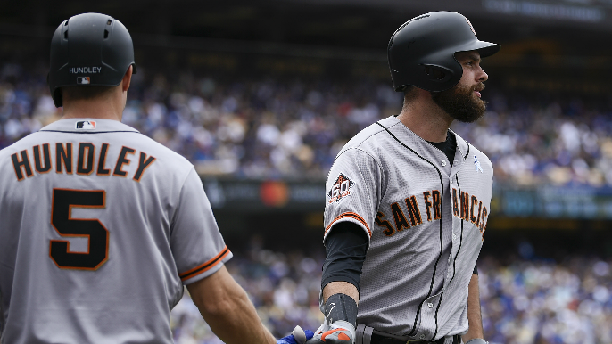 Hundley, Belt homer to lift Giants over Dodgers