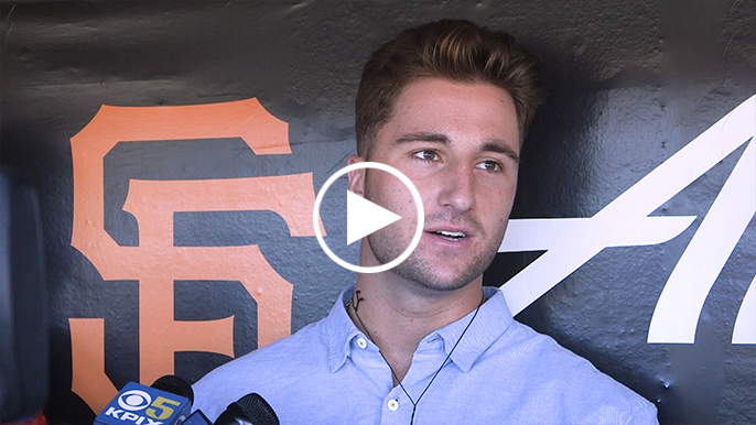 First-round pick Joey Bart visits AT&T Park, has first meeting with Buster Posey