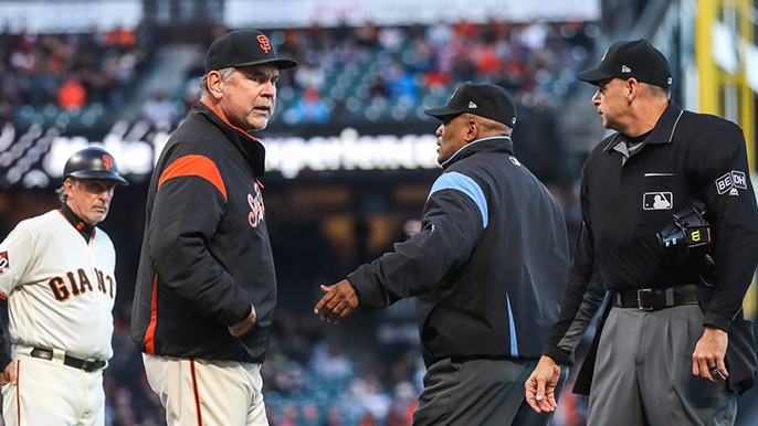 Giants use early scoring to beat Marlins in contentious matchup