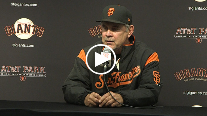 Bochy responds to Brinson plunk: 'Were they throwing at Longoria?'