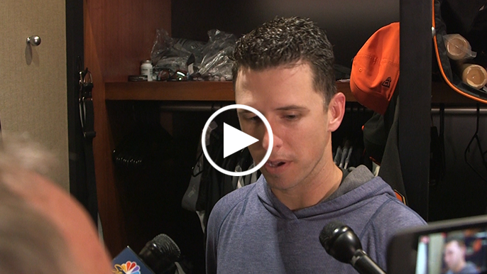 Buster Posey on if plunk was retaliatory: 'It sure seemed that way'