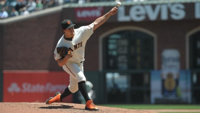 Giants break through in sixth to win series over Marlins