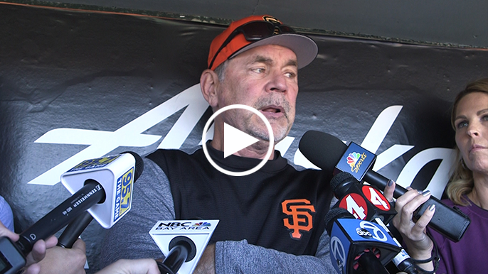 Bochy discusses increased importance of Bay Bridge Series