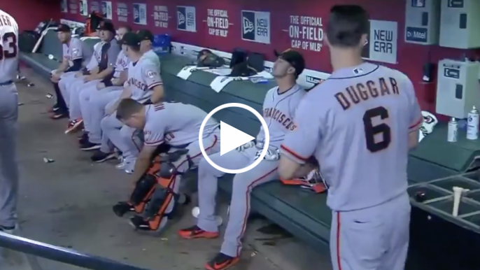 Steven Duggar gets silent treatment after hitting first major league home run