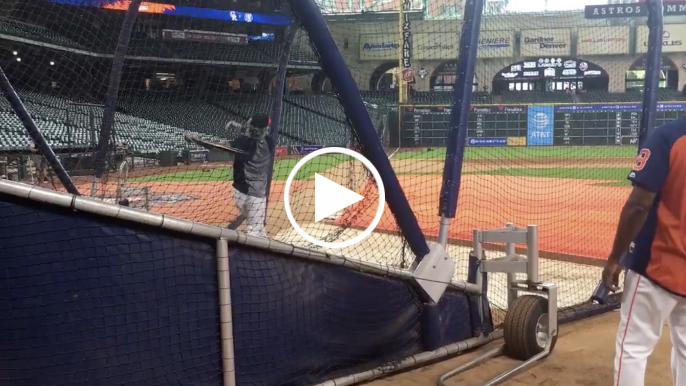 49ers second-round pick Dante Pettis launches BP homers at Minute Maid Park