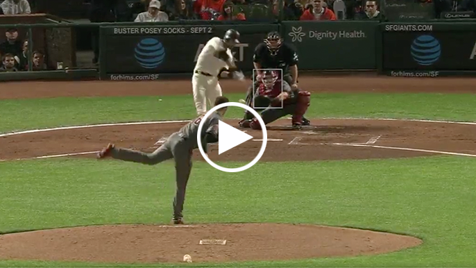 Steven Duggar gives Giants 2-0 lead with first career home run at AT&T Park