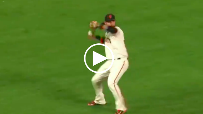 Crawford makes outrageous play to throw out Goldschmidt at first
