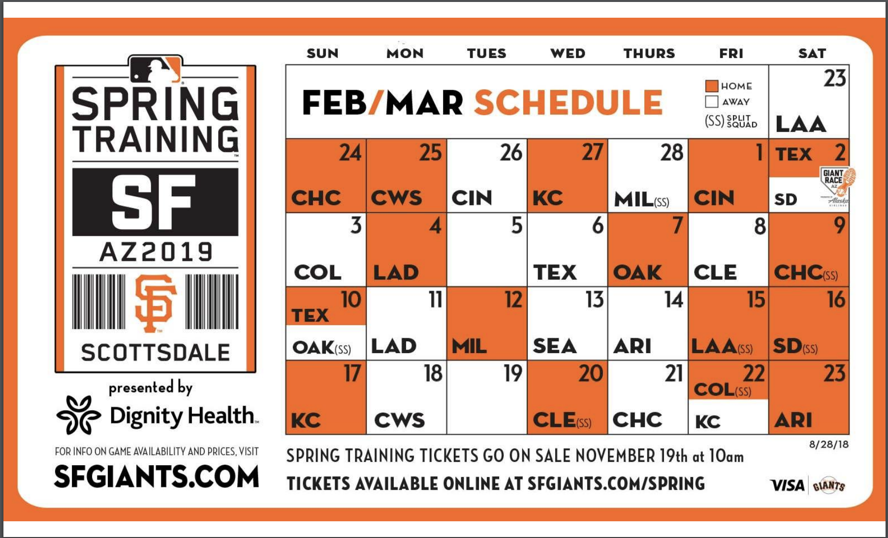 This is a picture of Unusual Sf Giants Schedule Printable