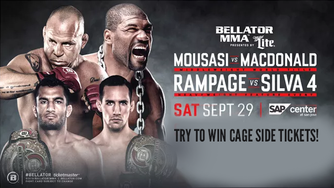 Enter for your chance to win cage side seats to Bellator MMA!