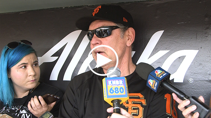Strickland reveals struggles with ulcerative colitis, Bochy commends 'mental toughness'
