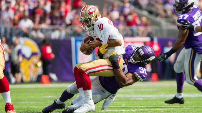 Vikings defensive lineman on Garoppolo: 'You see that he's starting to get scared'
