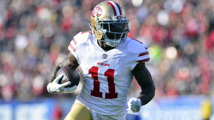 Marquise Goodwin headlines list of inactives for Sunday's game vs. Lions