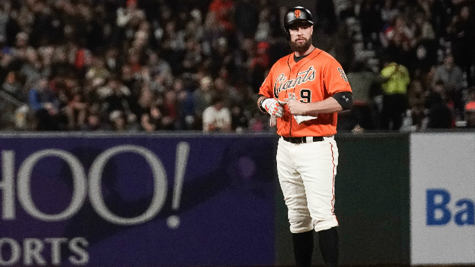Bochy discusses pulling Belt with knee soreness: 'I'm concerned there'