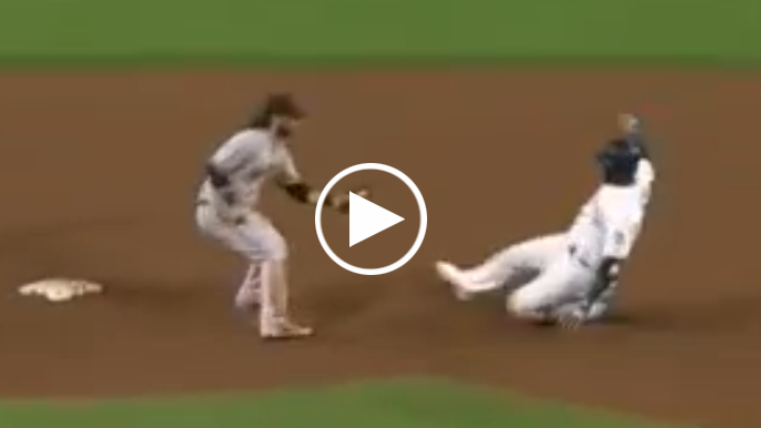 Austin Slater makes laser throw from right field to prevent double