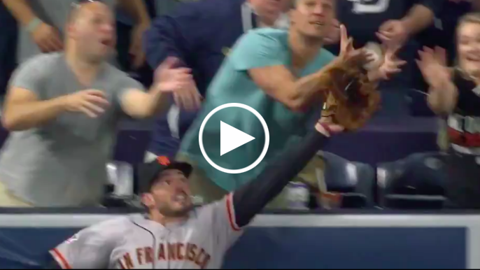 Chris Shaw robbed of home run robbery by fan