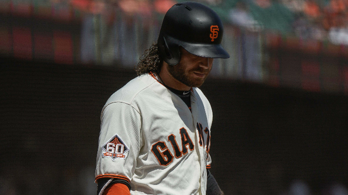 Brandon Crawford explains how knee injury has affected his play in 2018