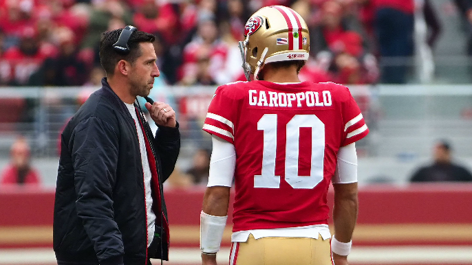 Kyle Shanahan 'surprised' with Jimmy Garoppolo's progress